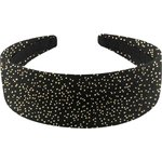 Wide headband noir pailleté - PPMC