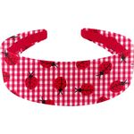 Wide headband ladybird gingham - PPMC