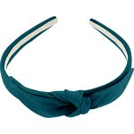 Serre-tête noeud bleu vert - PPMC
