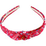 bow headband cherry cornflower - PPMC