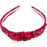 bow headband pompons cerise - PPMC