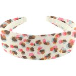 Wide headband confetti aqua - PPMC