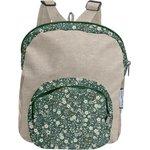 Children rucksack fleuri kaki - PPMC