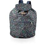 Petit sac à dos plastifié milli fleurs vert azur - PPMC