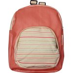 Children rucksack silver pink striped - PPMC