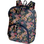 Foldable rucksack  pink blue dalhia - PPMC
