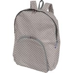 Foldable rucksack  light grey spots - PPMC
