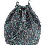 Bucket bag green azure flower - PPMC