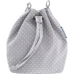 Bucket bag light grey spots - PPMC