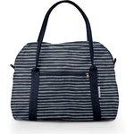 Bowling bag  striped silver dark blue - PPMC
