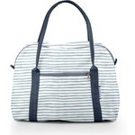 Bowling bag  striped blue gray glitter - PPMC