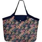 Grand sac cabas dahlia rose marine - PPMC