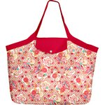 Tote bag with a zip flowers origamis  - PPMC