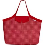 Tote bag with a zip red spots - PPMC