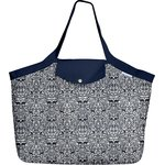 Tote bag with a zip scandinave navy blue - PPMC