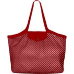 Pleated tote bag - Medium size red spots - PPMC