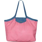 Pleated tote bag - Medium size small flowers pink blusher - PPMC