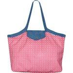 Bolso  cabas  mediano con cremallera pequeñas flores  rosadas - PPMC