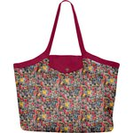 Pleated tote bag - Medium size multi letters - PPMC