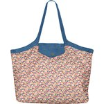 Pleated tote bag - Medium size carnations jeans - PPMC