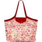 Pleated tote bag - Medium size flowers origamis  - PPMC