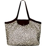Pleated tote bag - Medium size leopard print - PPMC