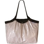 Pleated tote bag - Medium size pink coppers spots - PPMC