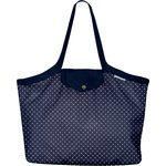 Pleated tote bag - Medium size navy blue spots - PPMC