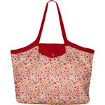 Pleated tote bag - Medium size pink meadow - PPMC