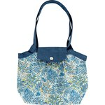 Pleated tote bag-Small size blue forest - PPMC