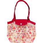 Pleated tote bag-Small size flowers origamis  - PPMC