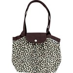 Pleated tote bag-Small size leopard print - PPMC