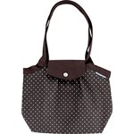 Pleated tote bag-Small size brown spots - PPMC