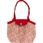 Pleated tote bag-Small size pink meadow - PPMC