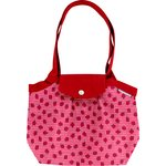 Pleated tote bag-Small size ladybird gingham - PPMC