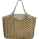 Tote bag with a zip pineapple - PPMC