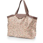 Tote bag with a zip confetti aqua - PPMC