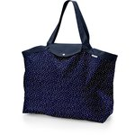 Tote bag with a zip navy gold star - PPMC