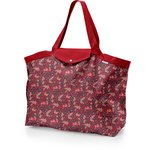 Tote bag with a zip vermilion foliage - PPMC