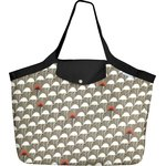 Tote bag with a zip flamingo - PPMC