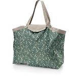 Tote bag with a zip fleuri kaki - PPMC