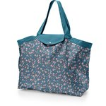 Tote bag with a zip fleuri nude ardoise - PPMC