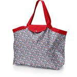Tote bag with a zip flowered london - PPMC