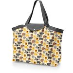 Tote bag with a zip yellow sheep - PPMC