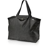 Tote bag with a zip golden straw - PPMC