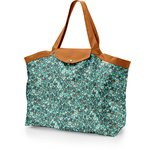 Tote bag with a zip jade panther - PPMC