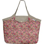 Tote bag with a zip purple meadow - PPMC