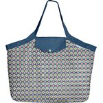Tote bag with a zip ethnic sun - PPMC