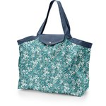 Tote bag with a zip celadon violette - PPMC