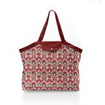 Pleated tote bag - Medium size poppy - PPMC